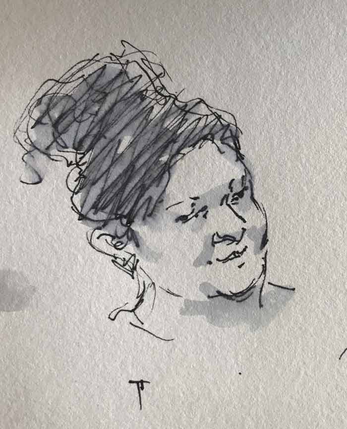 sketch by fine artist Pablo Tapia