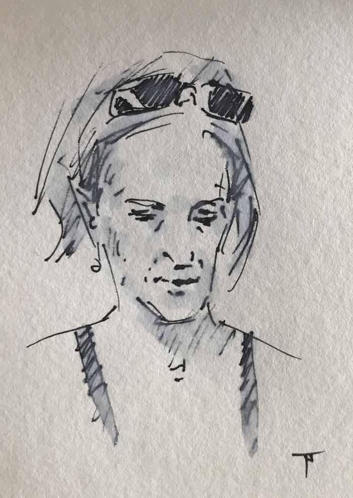 sketch by fine artist