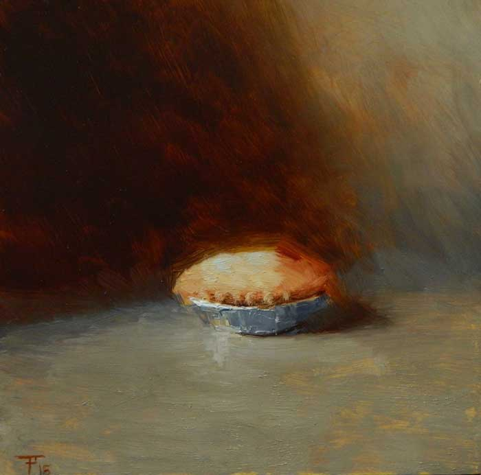 'Apple Pie', oil on panel, 30cm x 30cm