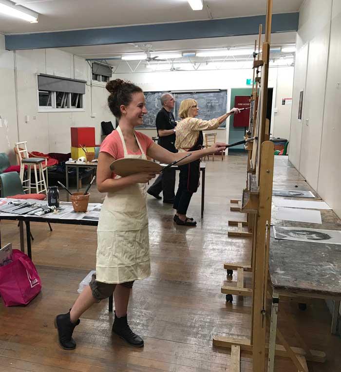 Fine art painting classes Newcastle - learn old masters techniqes & Australian tonal impressionist techniques