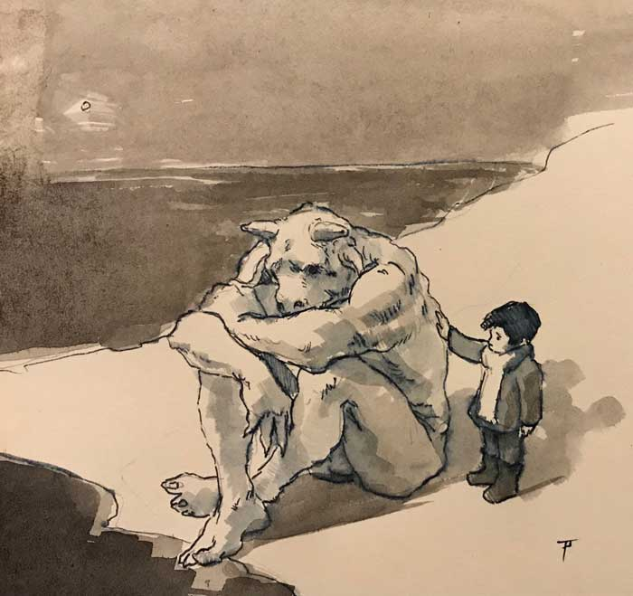 study by Newcastle artist Pablo Tapia