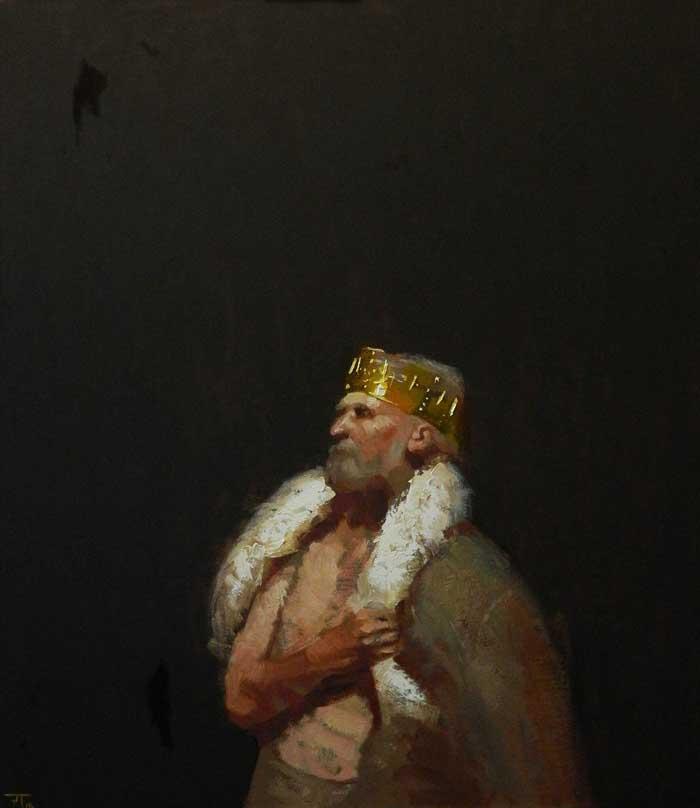 'Old King', oil on linen, 107cm x 90cm