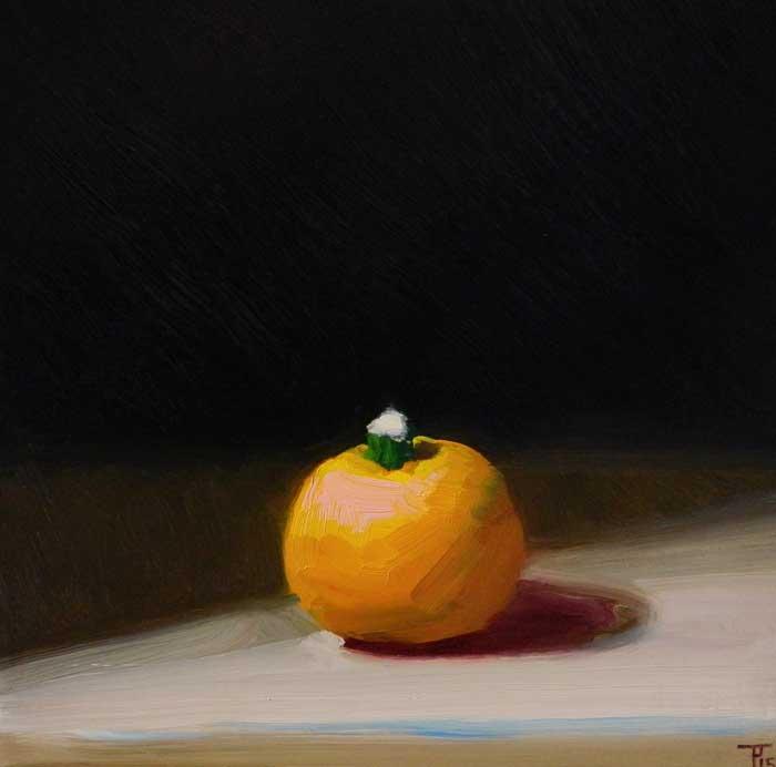 'Pumpkin', oil on panel, 30cm x 30cm