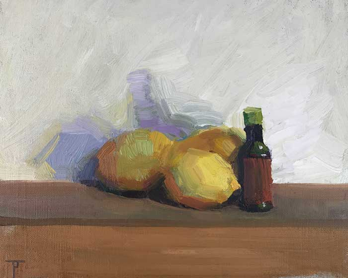 'Purple Shadow', oil on linen panel, 20cm x 25cm