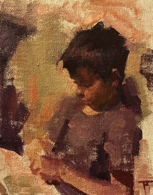 Oil Portrait Paintings Newcastle by Impressionist style Artist Pablo Tapia
