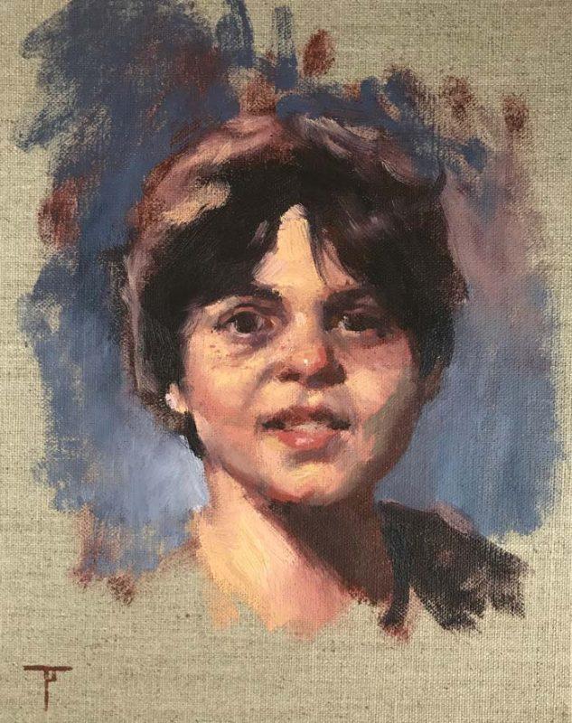 Oil portrait painting Newcastle