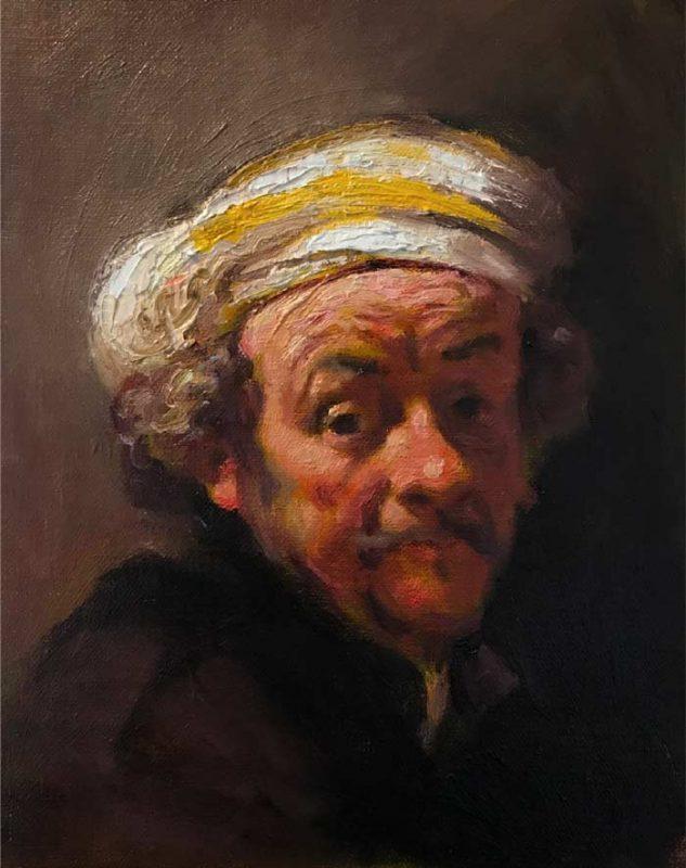 Finished portrait - using flemish baroque painting technique